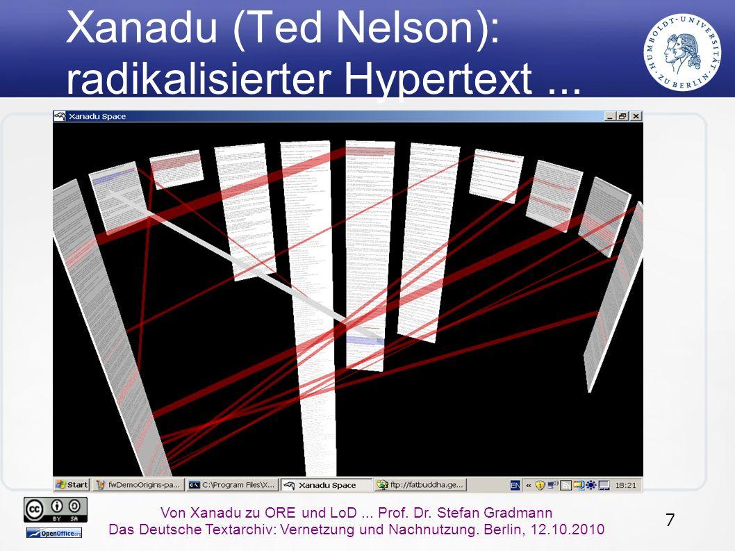 7 Von Xanadu zu ORE und LoD... Prof. Dr.