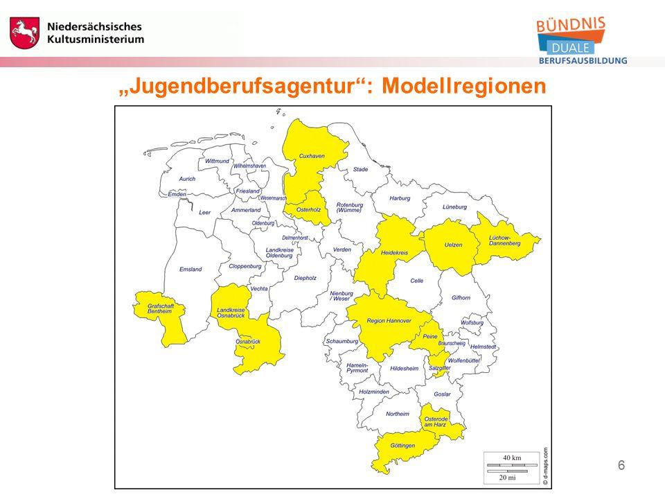 """6 Berufliche Bildung 6 """"Jugendberufsagentur : Modellregionen"""