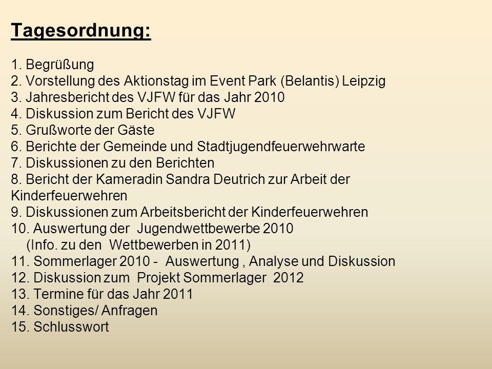 Tagesordnung: 1. Begrüßung durch den Vorsitzenden des Feuerwehrverband Börde e.V.
