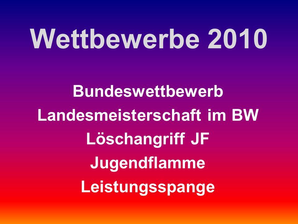 Wettbewerbe 2010 Bundeswettbewerb Landesmeisterschaft im BW Löschangriff JF Jugendflamme Leistungsspange
