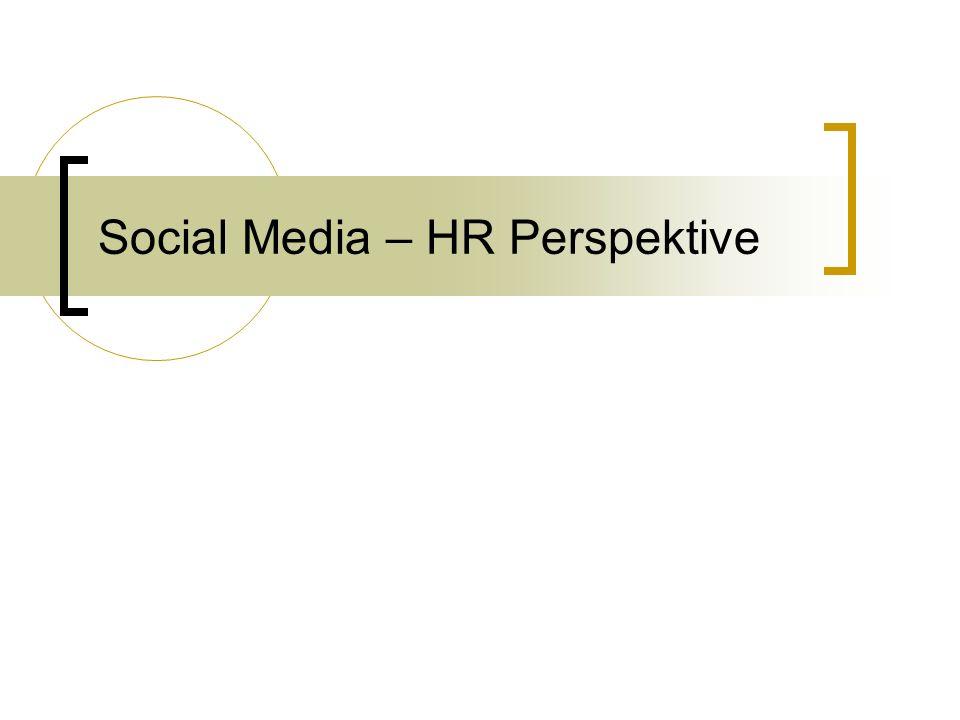 Social Media – HR Perspektive