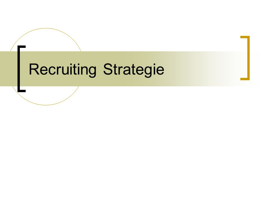 Recruiting Strategie