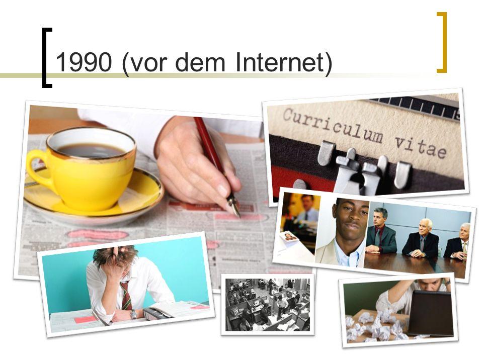 Bewerbersicht Suche nach Stellenanzeigen Suche nach weiterführenden Informationen Selbst PR als Mittel zu passiven Stellensuche …