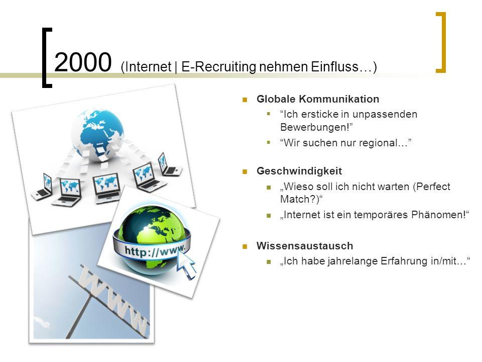 Perspektive heute: Mehr und schneller… Recruiting ändert sich, auch in Deutschland Generation Y (Digitale Generation) Social (Media)  Recruiting Mobile