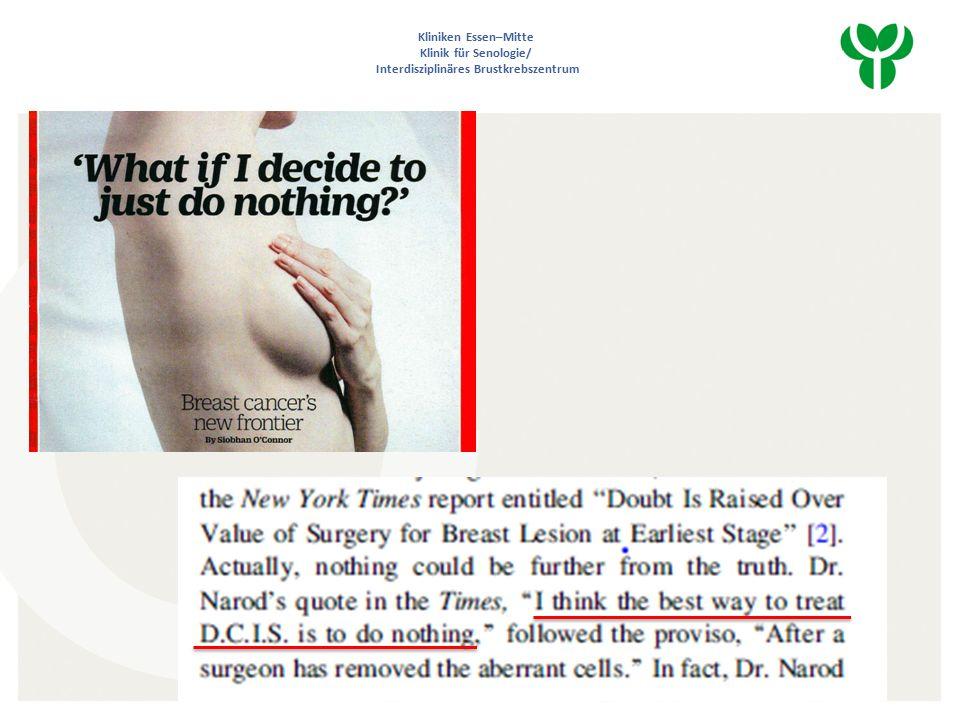 DCIS…Diskussion Nur noch double invasiv..Keine Chirurgie bei low grade DCIS ??.