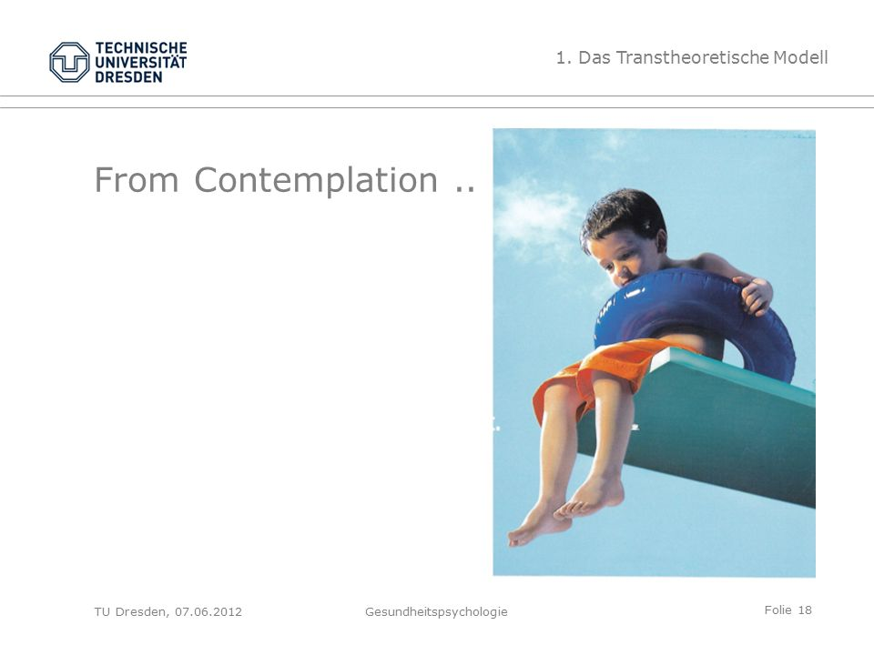 Folie 18 TU Dresden, 07.06.2012Gesundheitspsychologie From Contemplation..