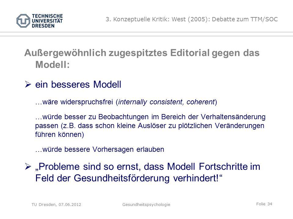 Folie 34 TU Dresden, 07.06.2012Gesundheitspsychologie 3.
