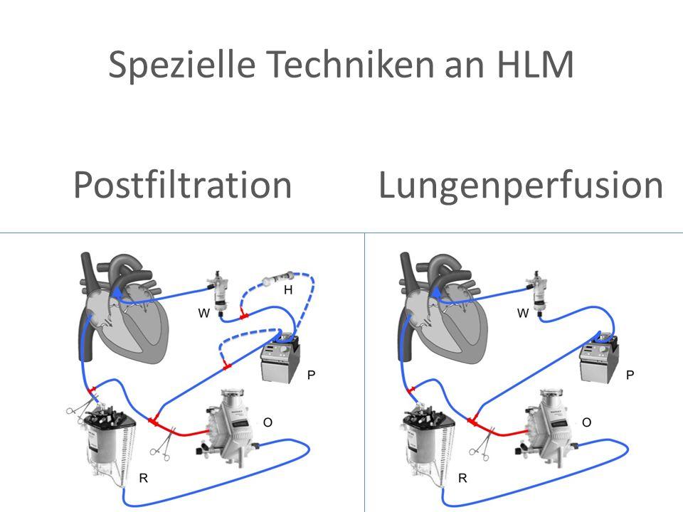 Spezielle Techniken an HLM Postfiltration Lungenperfusion