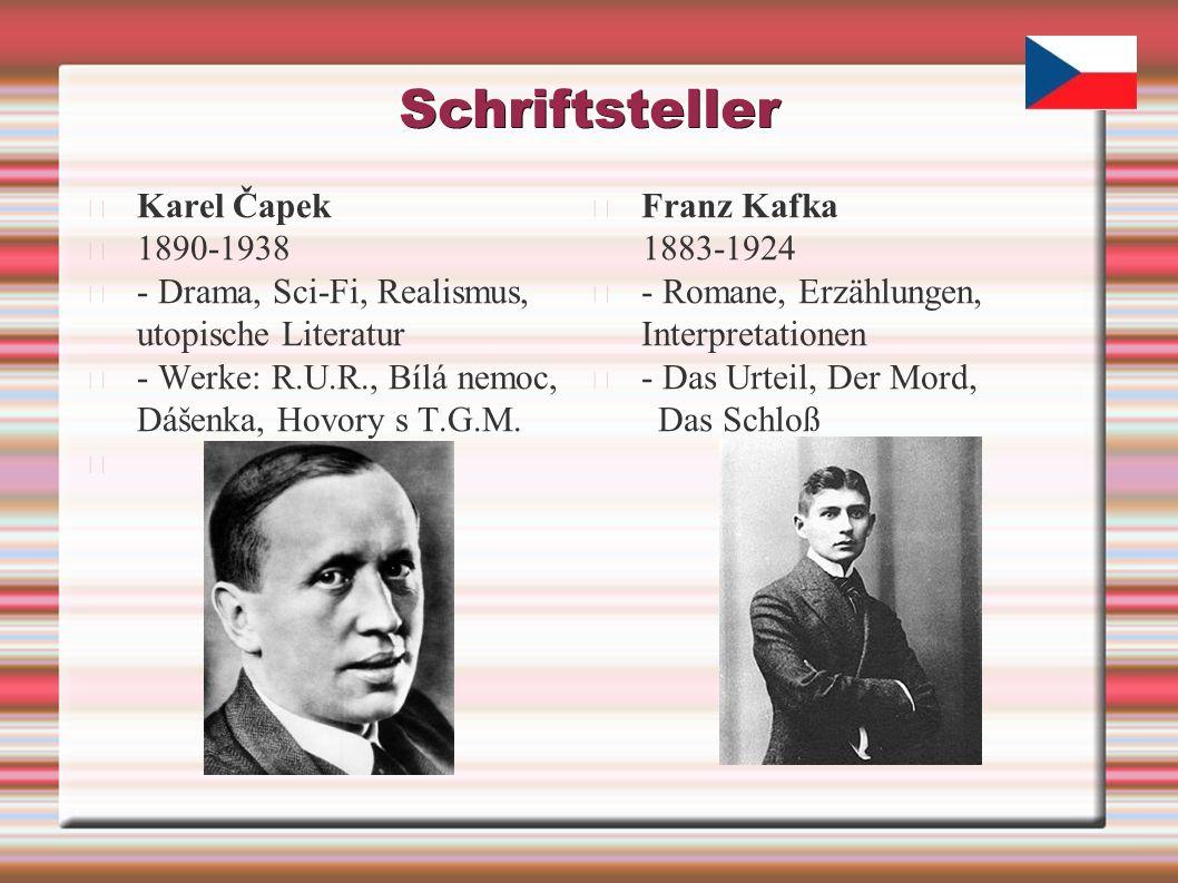 Schriftsteller Karel Čapek 1890-1938 - Drama, Sci-Fi, Realismus, utopische Literatur - Werke: R.U.R., Bílá nemoc, Dášenka, Hovory s T.G.M.