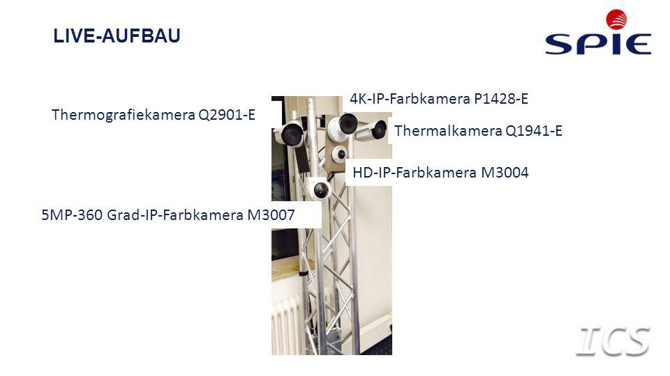 LIVE-AUFBAU Thermalkamera Q1941-E 4K-IP-Farbkamera P1428-E Thermografiekamera Q2901-E HD-IP-Farbkamera M3004 5MP-360 Grad-IP-Farbkamera M3007
