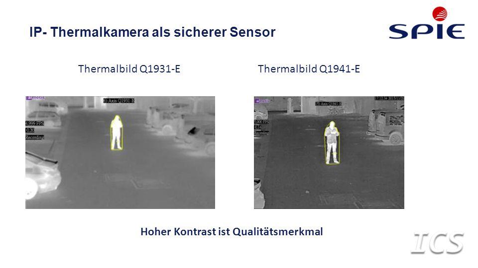 IP- Thermalkamera als sicherer Sensor Thermalbild Q1931-EThermalbild Q1941-E Hoher Kontrast ist Qualitätsmerkmal