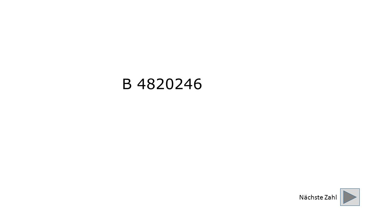 B 4820246 Nächste Zahl