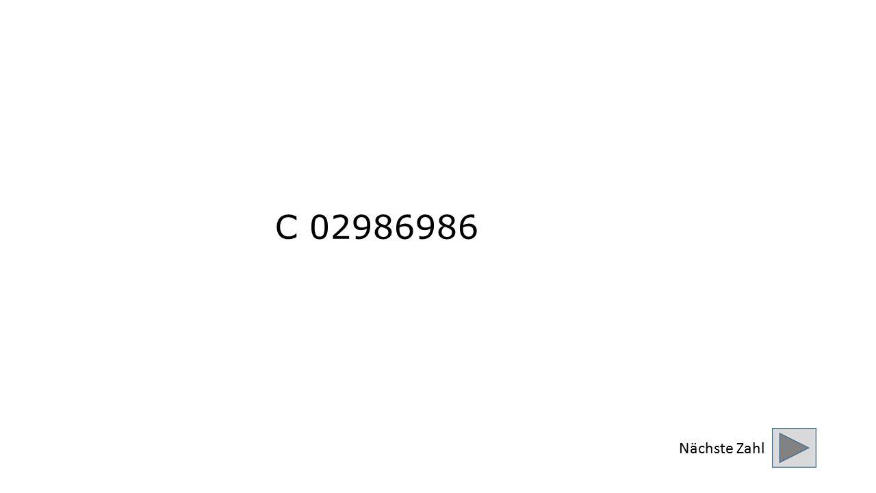 C 02986986 Nächste Zahl