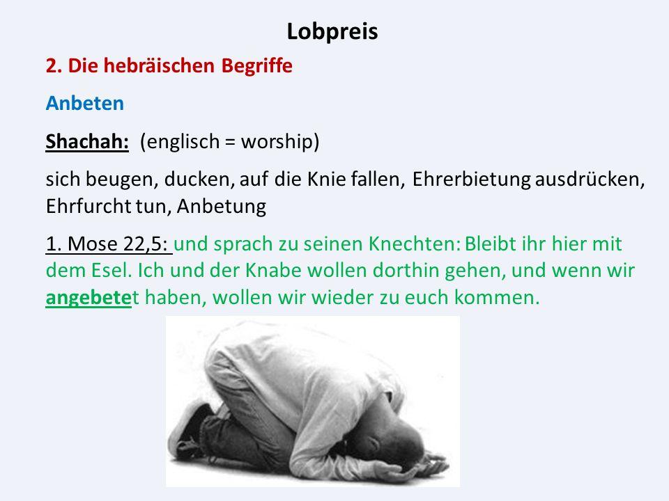 Lobpreis 3.Geschichte des Lobpreises 3.6.