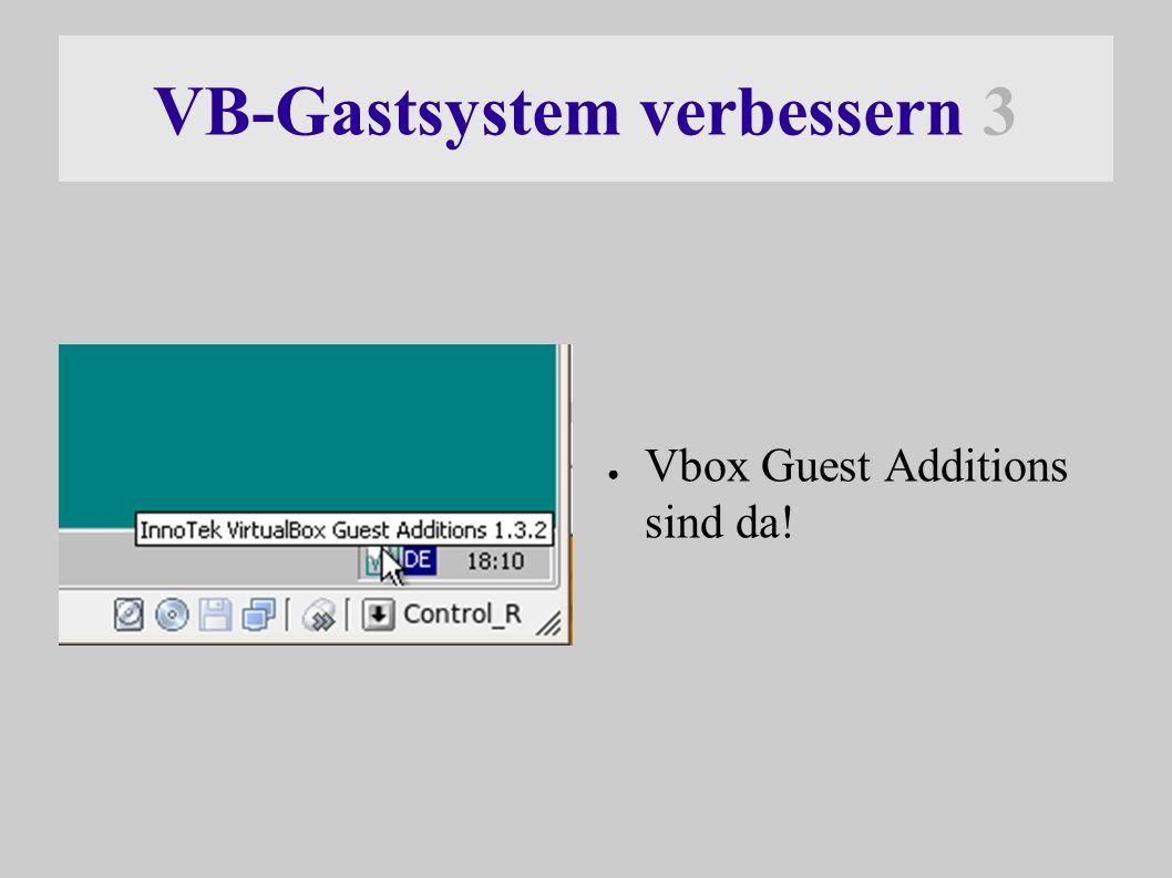 VB-Gastsystem verbessern 3 ● Vbox Guest Additions sind da!