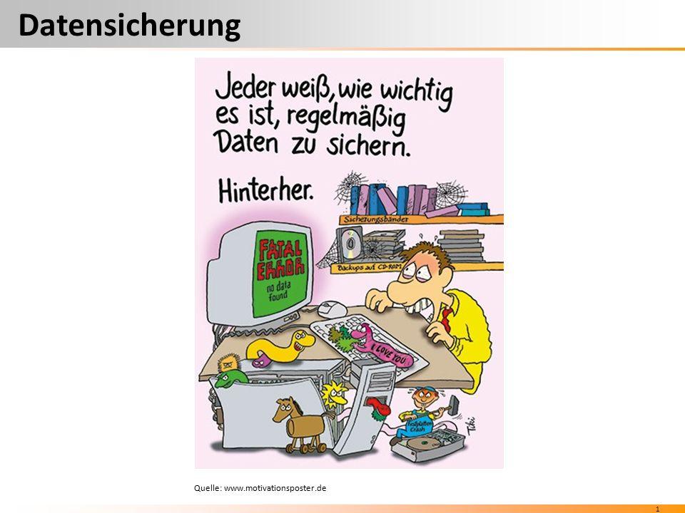 1 Datensicherung Quelle: www.motivationsposter.de