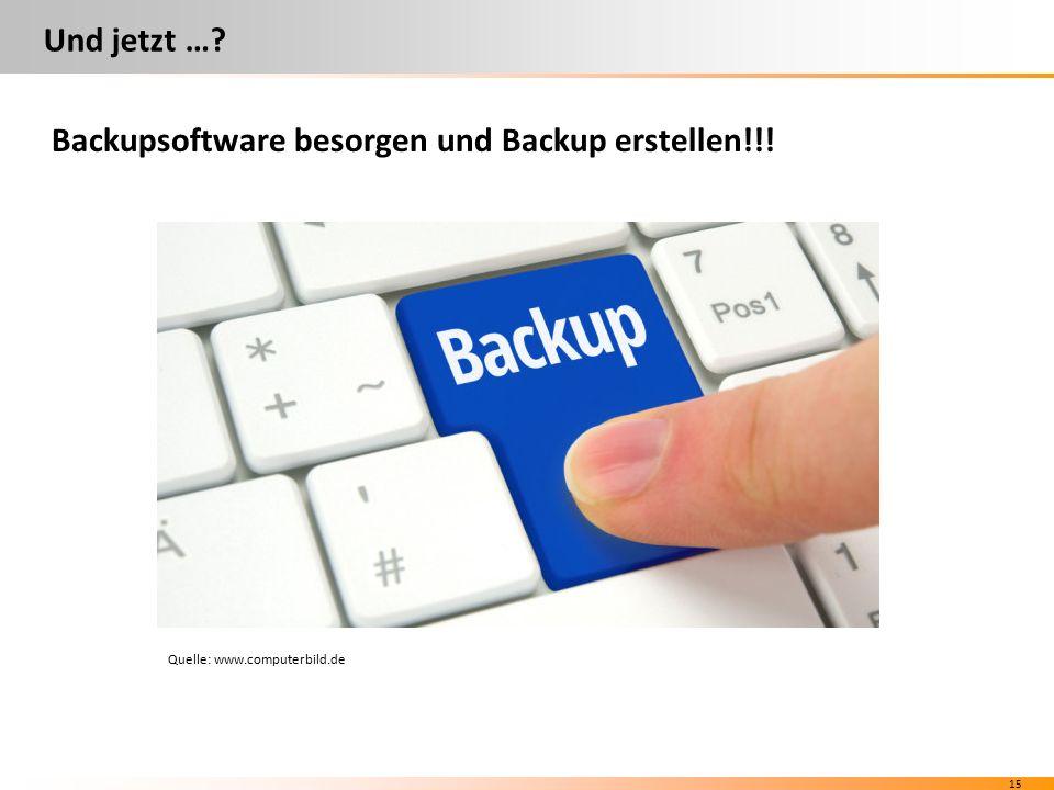 14 Welche Backupsoftware? Verschiedene Hersteller (Beispiele) kostenfrei kostenpflichtig