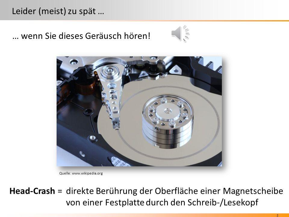 12 SoFrMoDiDoMiSaSo Backuparten Wiederherstellung (Restore) Quelle: www.versiondog.de SoMi SoMoDiMi + +++ aus Differenziellem Backup aus Inkrementellem Backup
