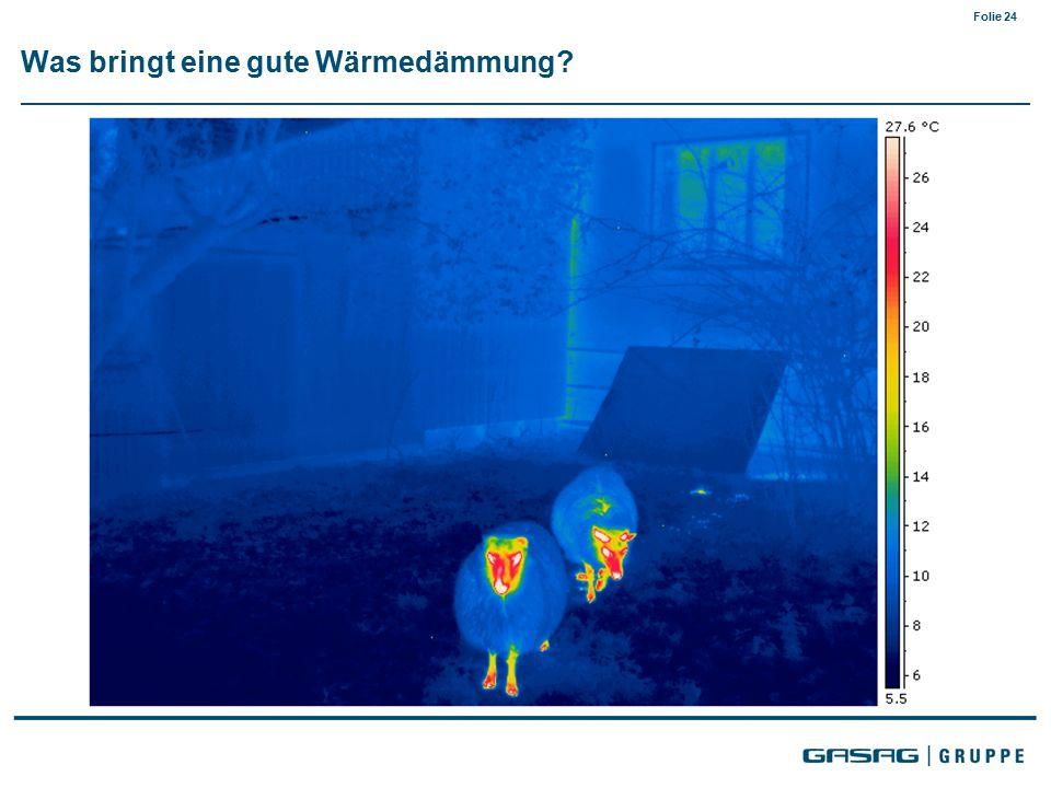 Folie 24 Was bringt eine gute Wärmedämmung