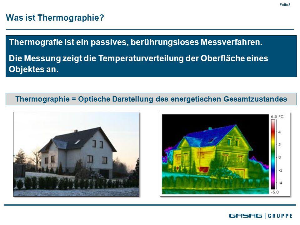 Folie 3 Was ist Thermographie. Thermografie ist ein passives, berührungsloses Messverfahren.
