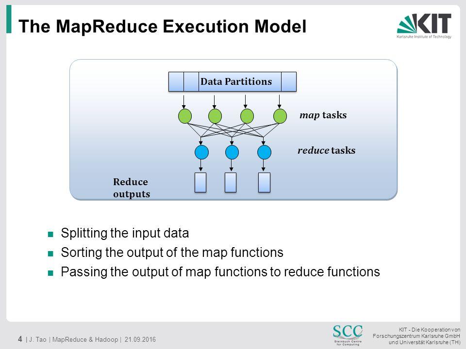 KIT - Die Kooperation von Forschungszentrum Karlsruhe GmbH und Universität Karlsruhe (TH) The MapReduce Execution Model 4 | J.