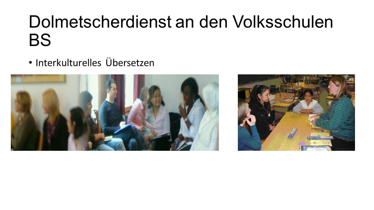 Dolmetscherdienst an den Volksschulen BS Interkulturelles Übersetzen