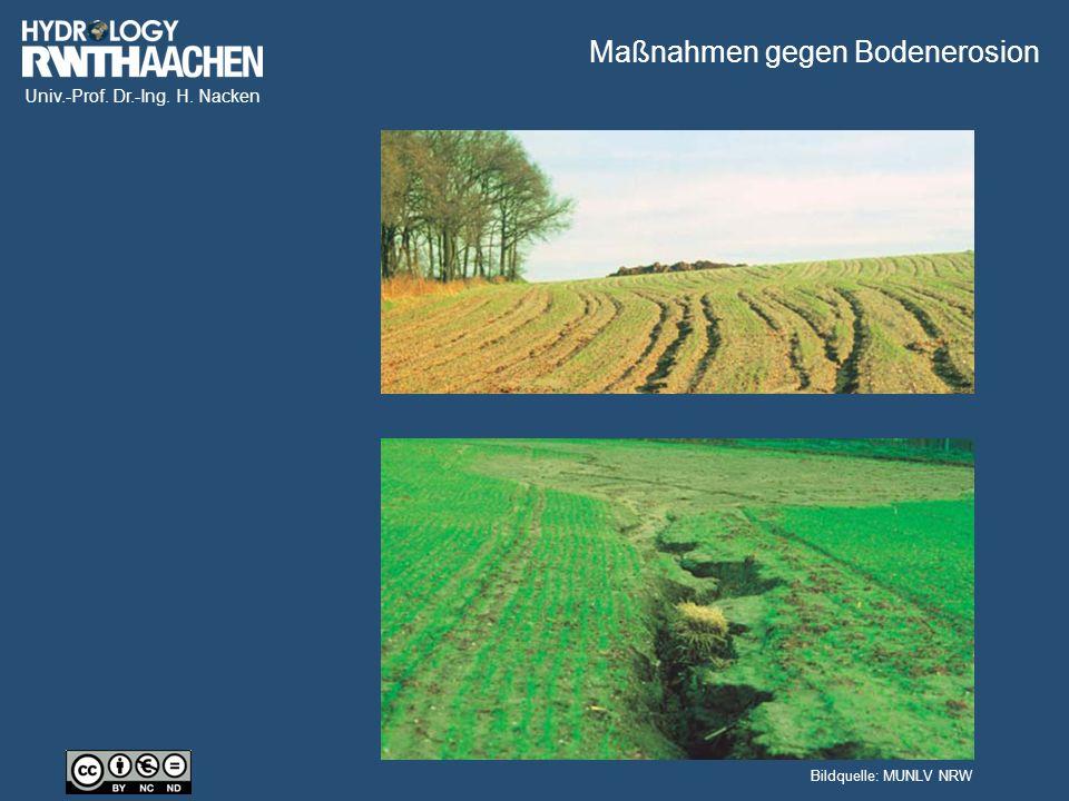 Univ.-Prof. Dr.-Ing. H. Nacken Maßnahmen gegen Bodenerosion Bildquelle: MUNLV NRW