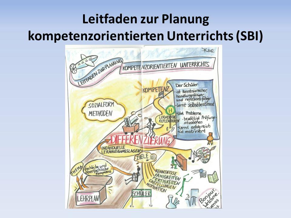 Leitfaden zur Planung kompetenzorientierten Unterrichts (SBI)