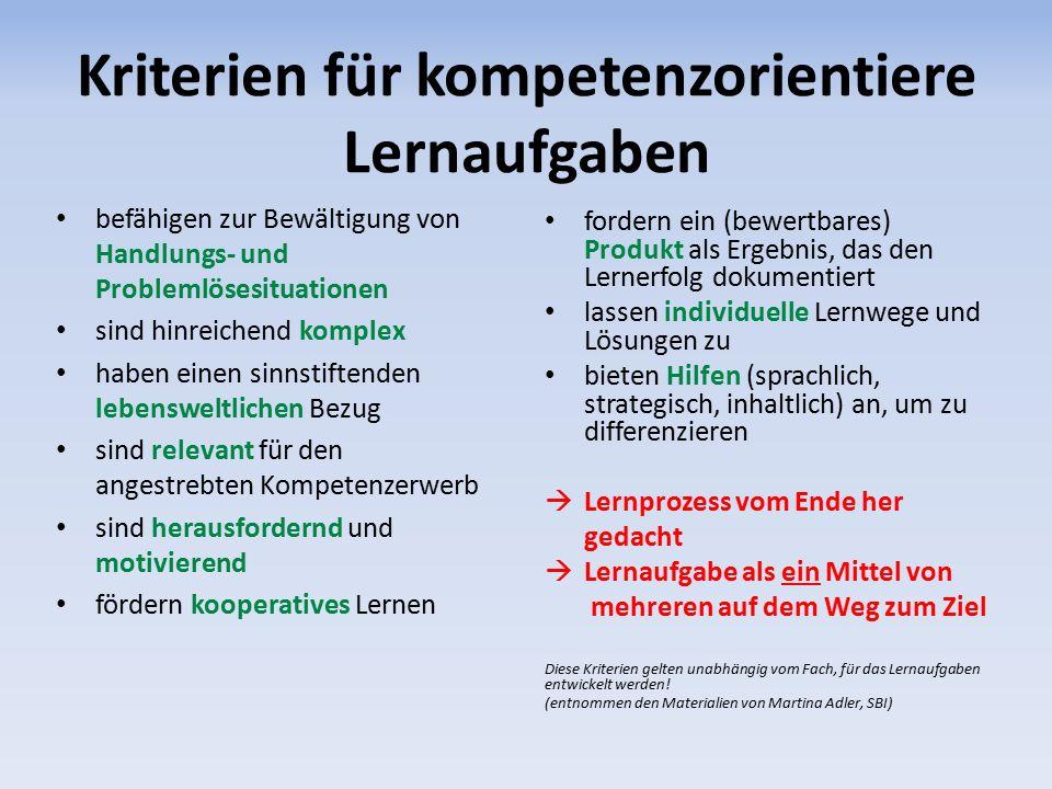 Differenzierungsmöglichkeiten (1/2) Z.B.