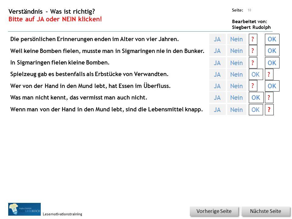 Übungsart: Seite: Bearbeitet von: Siegbert Rudolph Lesemotivationstraining 9 Welcher Artikel? Bitte auf den richtigen Artikel klicken! Nächste Seite V
