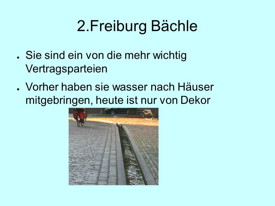 2.Freiburg Bächle ● Sie sind ein von die mehr wichtig Vertragsparteien ● Vorher haben sie wasser nach Häuser mitgebringen, heute ist nur von Dekor