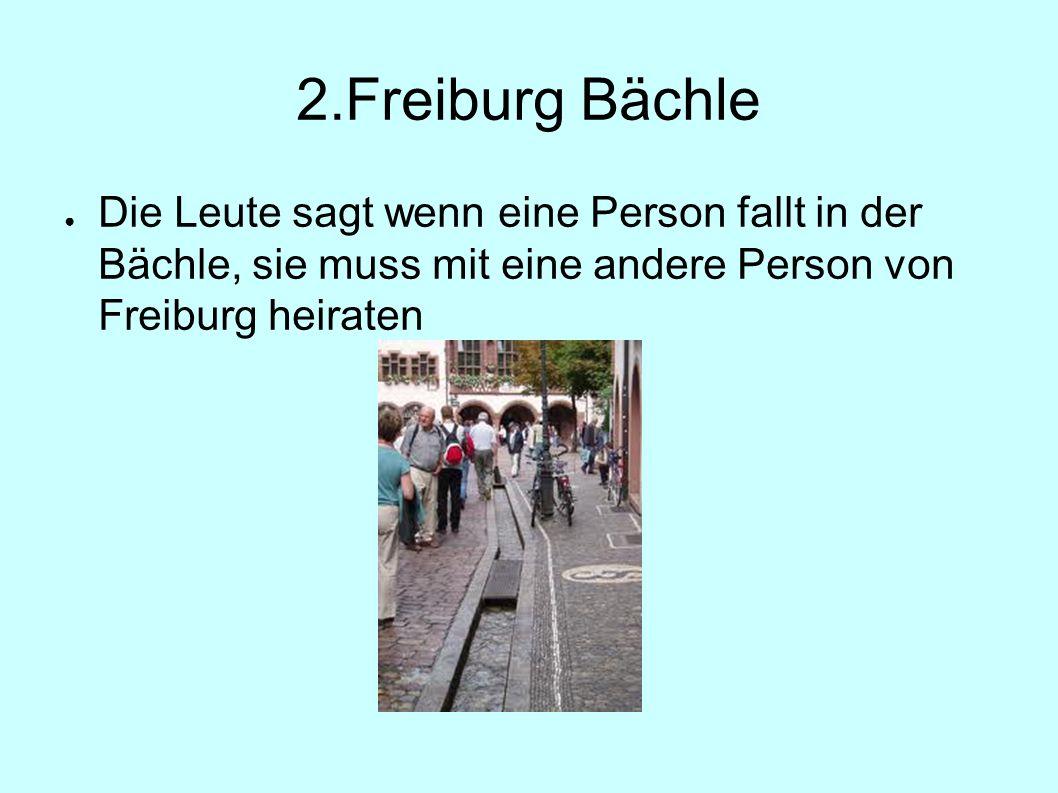 2.Freiburg Bächle ● Die Leute sagt wenn eine Person fallt in der Bächle, sie muss mit eine andere Person von Freiburg heiraten