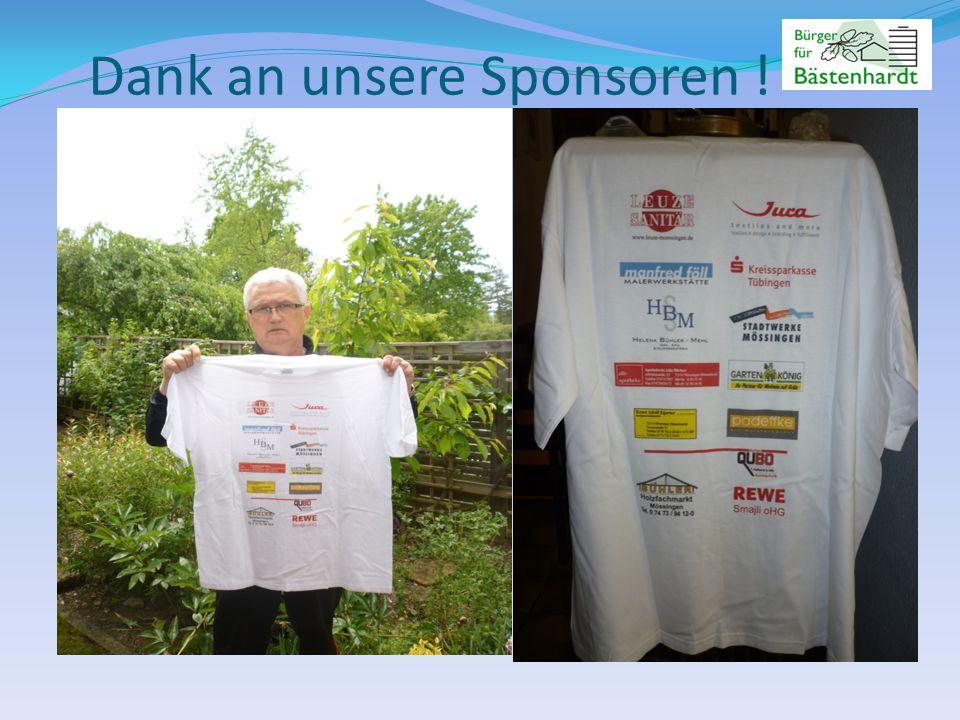 Dank an unsere Sponsoren !