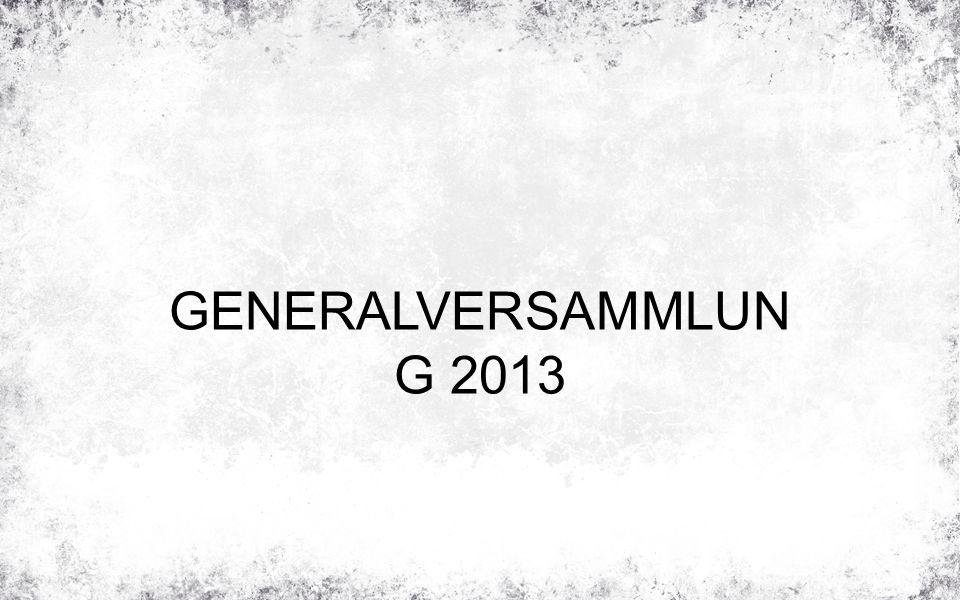 GENERALVERSAMMLUN G 2013