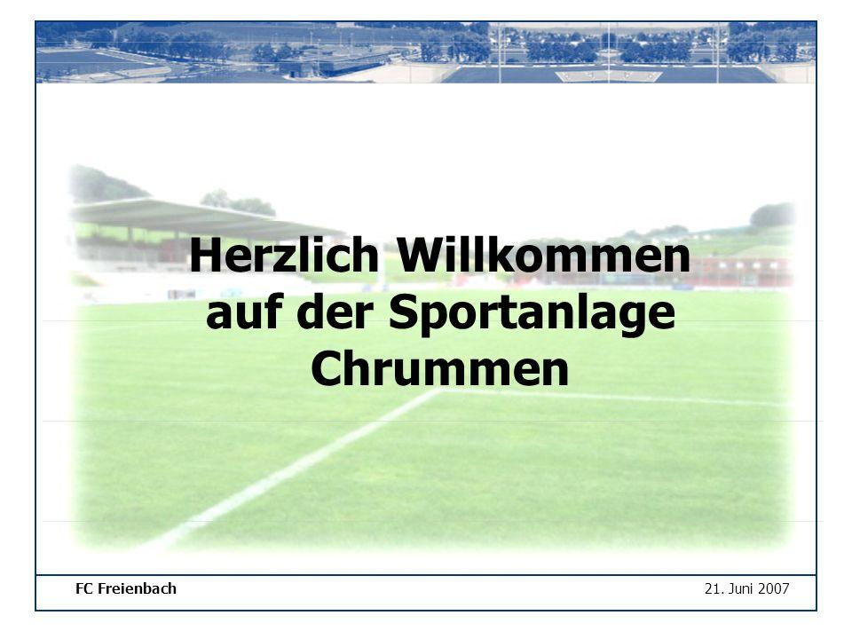 FC Freienbach21. Juni 2007 Herzlich Willkommen auf der Sportanlage Chrummen