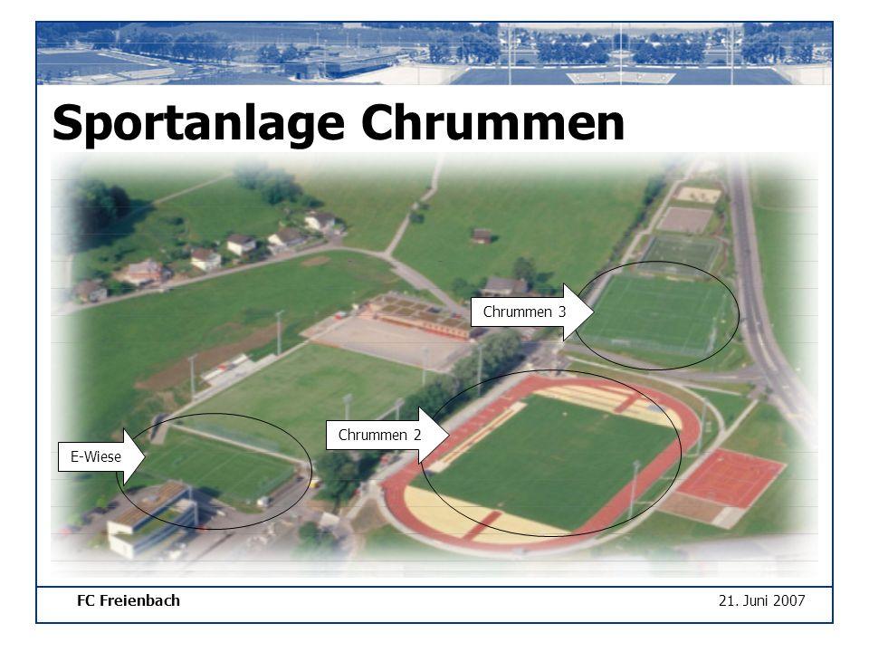 FC Freienbach21. Juni 2007 Sportanlage Chrummen Chrummen 3 Chrummen 2 E-Wiese