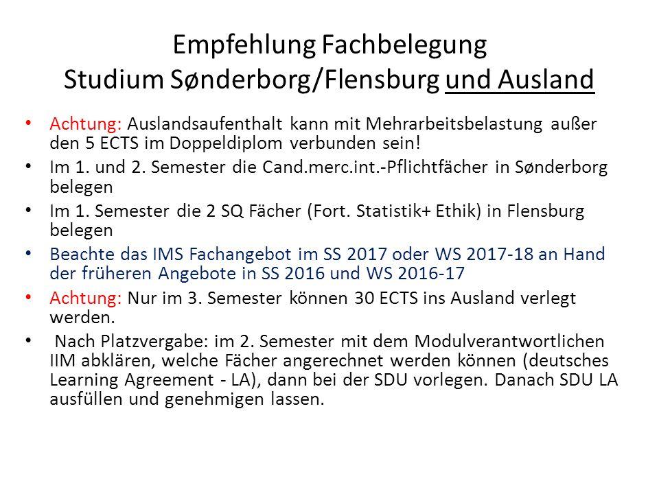 Sonstiges Täglich SDU-E-Mails lesen Ein SDU-E-Mailaccount ist kryptiert (sichere E- Mails, wo Google nicht mitliest) IT-Einführung: Dienstag in Sonderburg Prüfungsausschuss: a) SDU: Studienævnet for de Grænseoverskridende Studier (Doppeldiplom) b) IIM: SPA Krankmeldungen bei SDU-Prüfungen werden von der SDU an das SPA weitergeleitet.