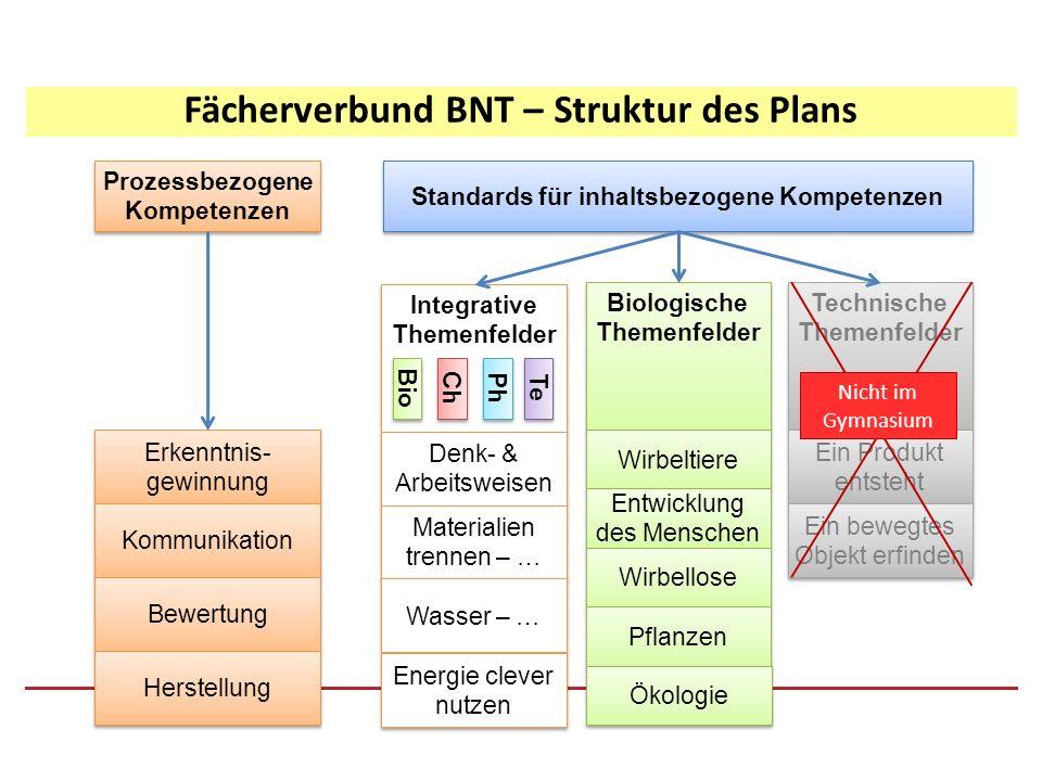 Physikalische Inhalte in den integrativen Bereichen: Fachmethoden (naturwiss.