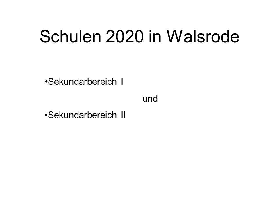 Schulen 2020 in Walsrode Sekundarbereich I und Sekundarbereich II