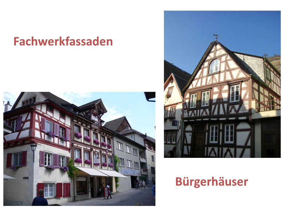 Fachwerkfassaden Bürgerhäuser