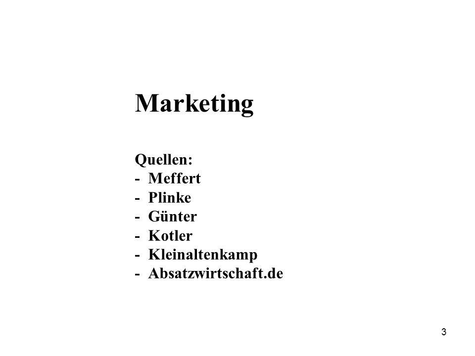 Das Marketing-Dreieck Quelle: Plinke 4
