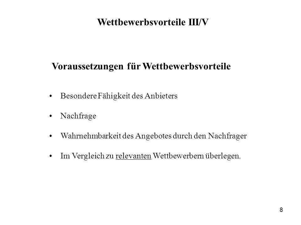 Mit den Augen des Kunden 9 Wettbewerbsvorteile IV/V
