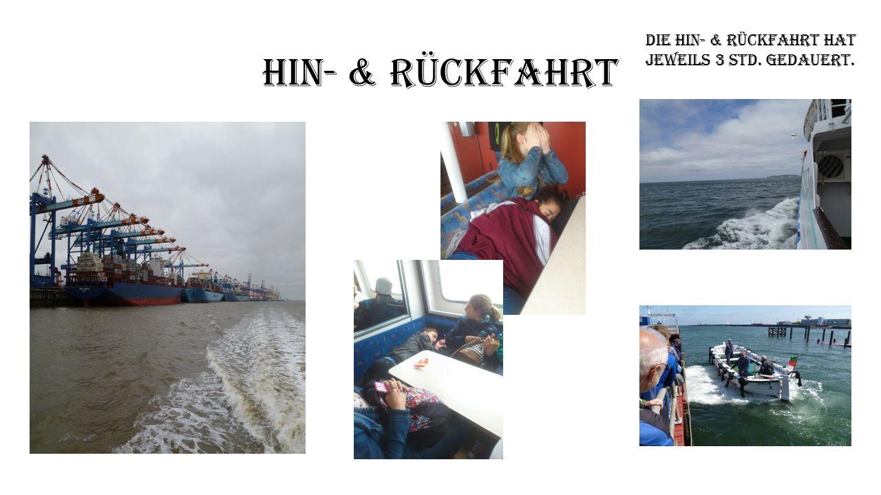 Hin- & Rückfahrt Die Hin- & Rückfahrt hat Jeweils 3 Std. gedauert.