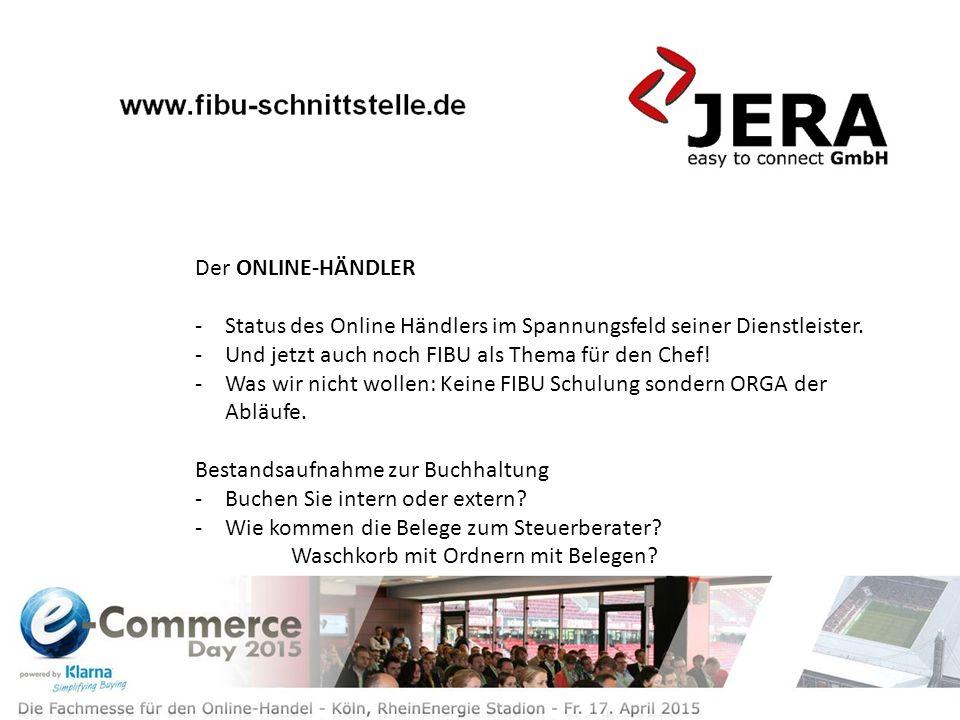 Der ONLINE-HÄNDLER -Status des Online Händlers im Spannungsfeld seiner Dienstleister.