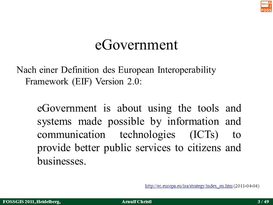 FOSSGIS 2011, Heidelberg, Germany Arnulf Christl44 / 49 Die Verwaltung sollte kein Anbieter von Produkten werden, http://www.w3c.es/Presentaciones/2011/0317-geoInteroperabilidad-MA/