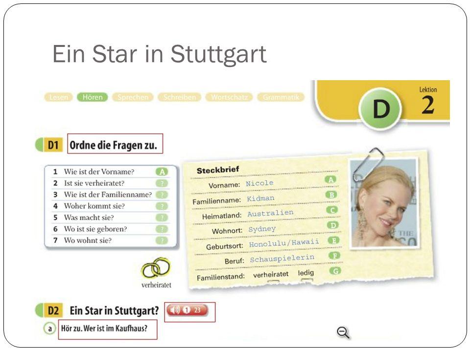 Ein Star in Stuttgart