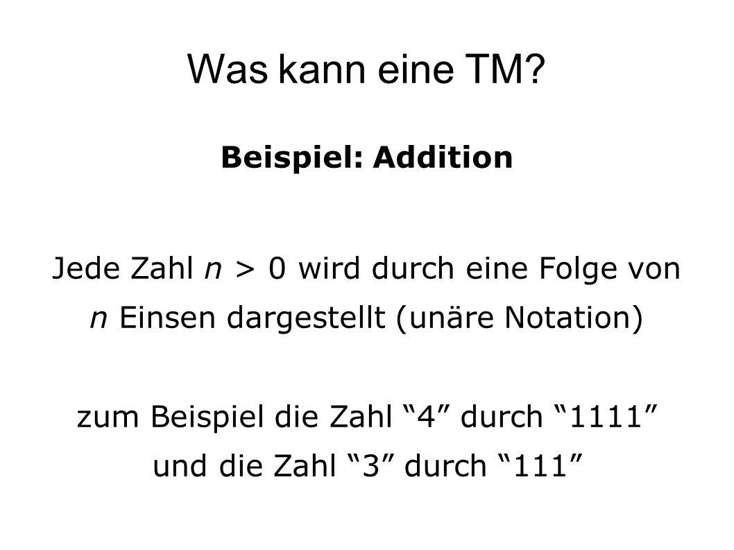 Was kann eine TM.