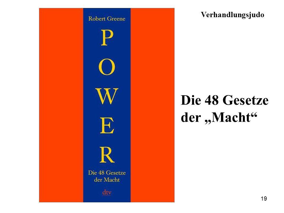 """19 Verhandlungsjudo Die 48 Gesetze der """"Macht"""