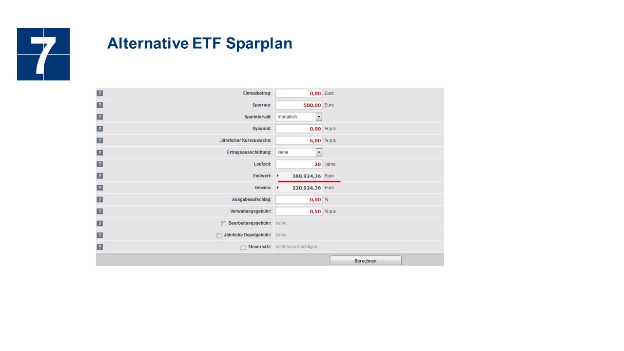 Alternative ETF Sparplan 7