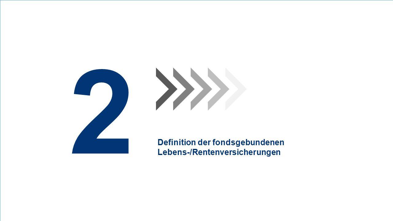 2 Definition der fondsgebundenen Lebens-/Rentenversicherungen